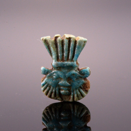 An Egyptian Faience Amulet Of The God Bes, Late Period, Ca. 700 - 332 BCE