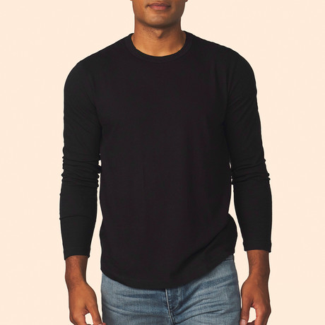 Cashmere Blend Long-Sleeve Tee // Black (S)