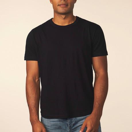 Cashmere Blend Short-Sleeve Tee // Black (S)