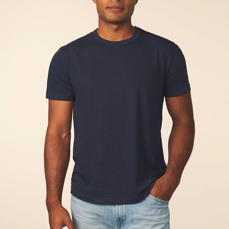 Cashmere Blend Short-Sleeve Tee // Pacific (S)