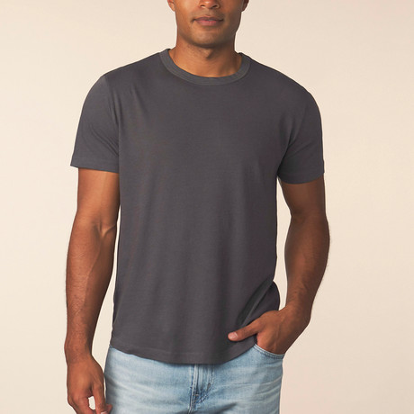 Cashmere Blend Short-Sleeve Tee // Carbon (S)