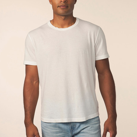 Cashmere Blend Short-Sleeve Tee // White (S)