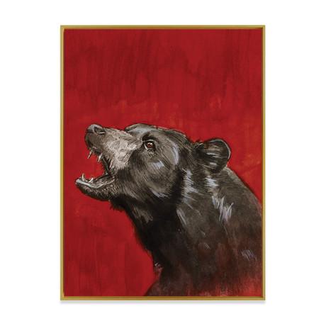 Black Bear by Kenny Eicher // Medium (Black Frame)
