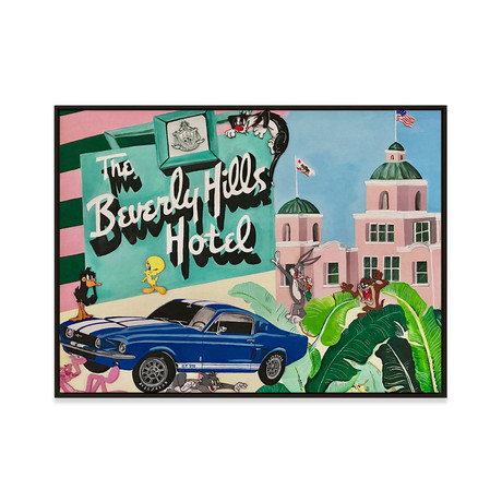 Beverly Hills Hotel by Sophie Mazarro // Small (Black Frame)