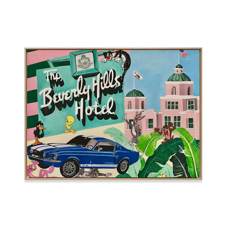 Beverly Hills Hotel by Sophie Mazarro // Medium (Black Frame)