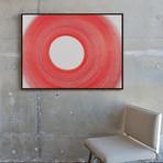 Circulo Blanco by Cintia Garcia // Small (Black Frame)