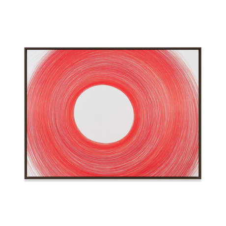 Circulo Blanco by Cintia Garcia // Medium (Black Frame)