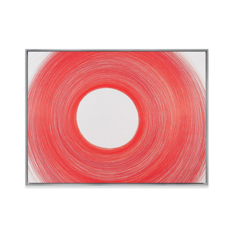Circulo Blanco by Cintia Garcia // Small (Black Frame)
