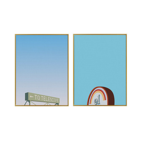 Griffith Park by Jonathan Schute // Medium // Set of 2 (Black Frame)