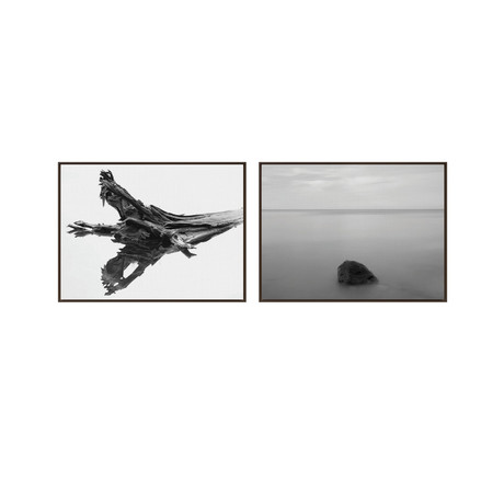 Lone Retreat by Chris Murray // Medium // Set of 2 (Black Frame)