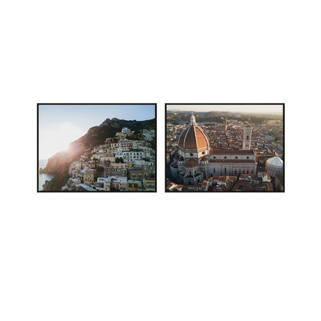 Italy's Jewels by JB Jakubek // Small // Set of 2 (Black Frame)