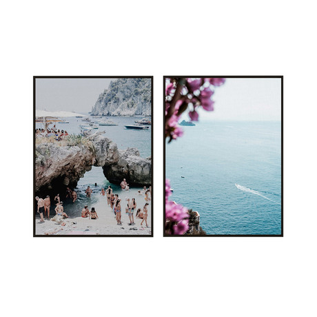 Italian Riviera by Natalie Obradovich // Small // Set of 2 (Black Frame)