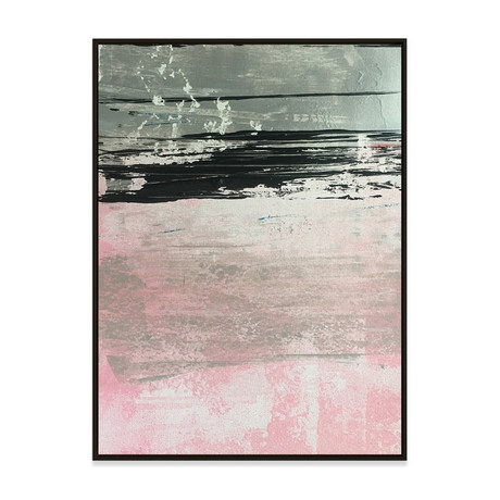 Pink Sands by Yasemen Asad // Small (Black Frame)