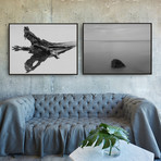 Lone Retreat by Chris Murray // Small // Set of 2 (Black Frame)
