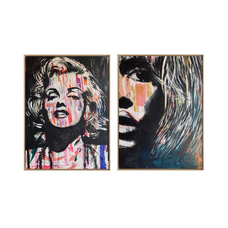 Pop Icons by Yasemen Asad // Medium // Set of 2 (Black Frame)