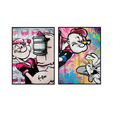 Popeye un Lapin by Mr. Oizif // Small // Set of 2 (Black Frame)