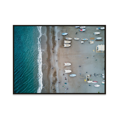 Positano in October by JB Jakubek // Small (Black Frame)