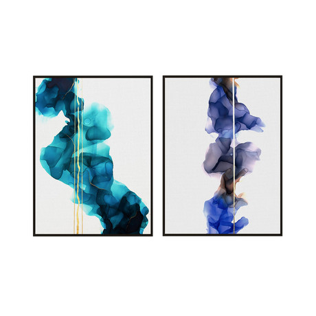 Waves by Morgan Smalley // Medium // Set of 2 (Black Frame)