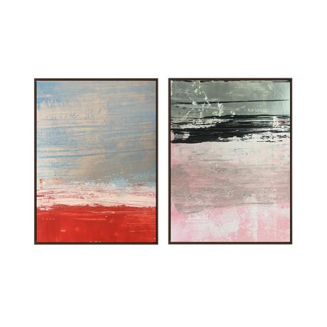 Red Sands by Yasemen Asasd // Medium // Set of 2 (Black Frame)