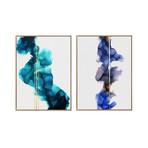 Waves by Morgan Smalley // Medium // Set of 2 (Black Frame)