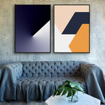 PRESS 52 & 68 by Liam Roberts // Small // Set of 2 (Black Frame)