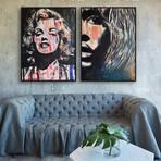 Pop Icons by Yasemen Asad // Small // Set of 2 (Black Frame)