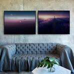Purple Lavender Field by Samir Belhamra // Medium // Set of 2 (Black Frame)
