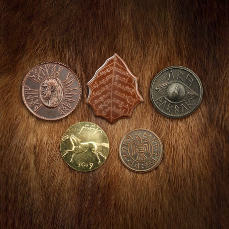 The Lord of the Rings™ Set 1 // Middle Earth Set of Five Coins