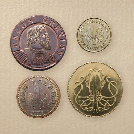 House Greyjoy Set of Four Coins