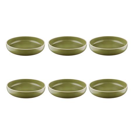 """Origin // 8.7""""Ø Soup Plate // Set of 6 (Argile)"""