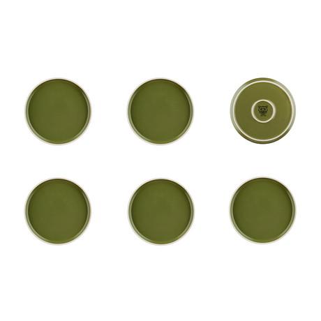 "Origin // 8.1""Ø Plate // Set of 6 (Argile)"