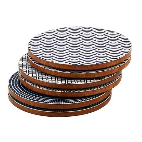 Mango Wood Coasters // Set of 6 (Dark Collection)