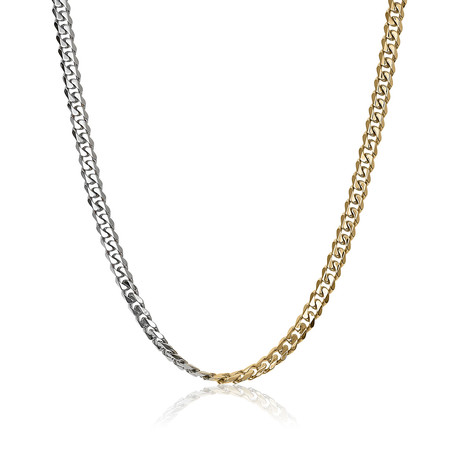 "Reversible Curb Polished Necklace // 4.6mm // Gold (18"")"