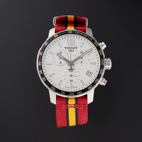 Tissot Quickster Chronograph Quartz // T095.417.17.037.08 // Pre-Owned