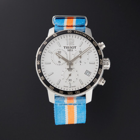 Tissot Quickster Chronograph Quartz // T095.417.17.037.06 // Pre-Owned