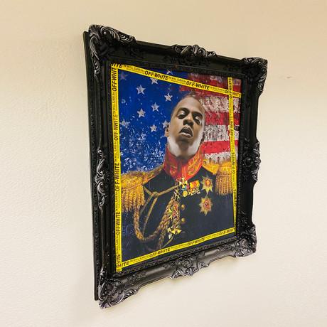 "Jay Z // Black Frame (30""H x 25""W x 2.3""D)"