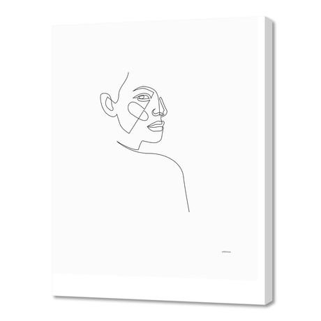 "lost - single line art (16""W x 24""H x 1.5""D)"