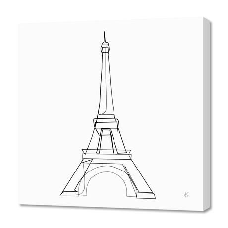 """Eiffel Tower (16""""W x 24""""H x 1.5""""D)"""