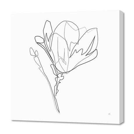 "Magnolia Flower Print #4 (16""W x 24""H x 1.5""D)"