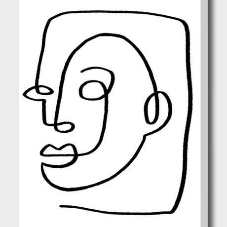 Face Line Art I