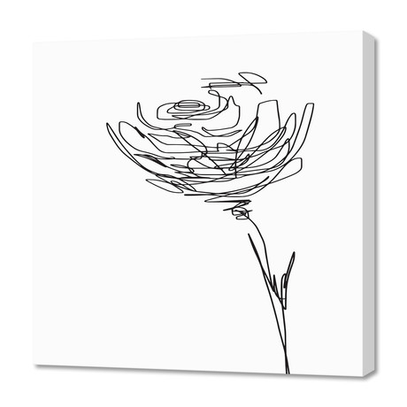 "line drawing - flower (16""W x 24""H x 1.5""D)"