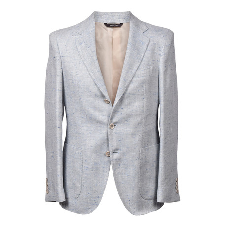 Loro Piana // Javier Blazer // Light Gray + Blue (Euro: 46)
