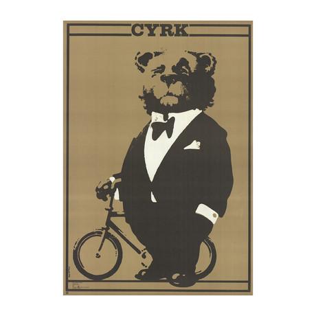 Waldemar Swierzy // Cyrk Bear in Tuxedo // 1978 Lithograph