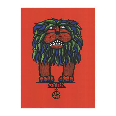Hubert Hilscher // Cyrk Lion // 1967 Serigraph