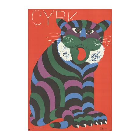 Hubert Hilscher // Cyrk Tiger // 1975 Lithograph
