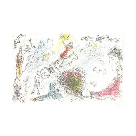 Marc Chagall // L'ame du Cirque // 1981 Offset Lithograph