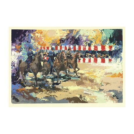 Wayland Moore // Circus Horse Show II // 1981 Serigraph