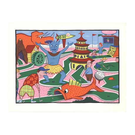 Rodney Greenblat // Minigolf Circus // 1988 Serigraph // SIGNED