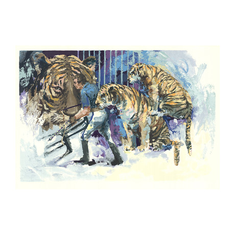 Wayland Moore // Three Tigers in the Circus // 1985 Serigraph