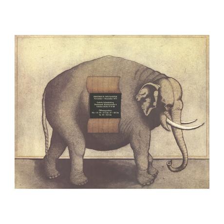 Friedrich Meckseper // Elephant // 1973 Offset Lithograph